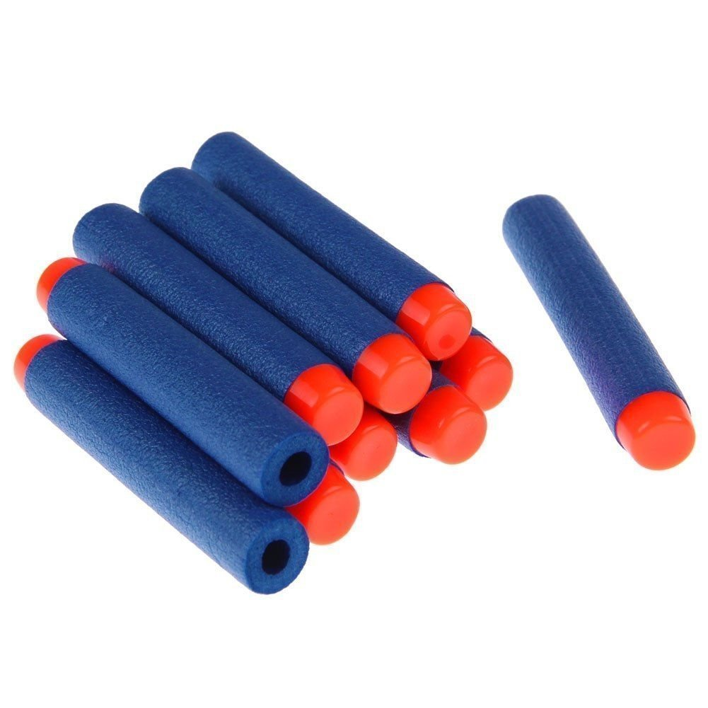 300-Dart Refill Pack Outdoor Toy Gun Bullet Darts Round Head Foam Darts for Nerf N-strike Elite Series (Blue)