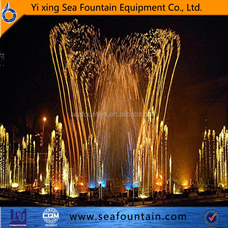 Special water feature music fountain wooden package with good quality