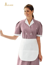 Benutzerdefinierte kurzarm design hotel housekeeping uniform
