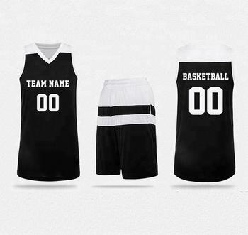 d3d30b266fe 2017 2018 latest design custom basketball jersey reversible black basketball  uniform set