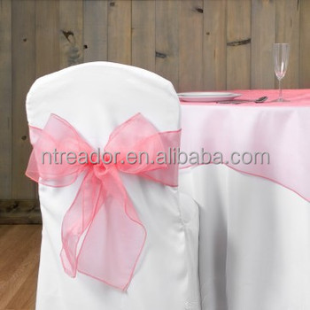 wholesale Crystal organza bows various color chair sashes for wedding chair cover & Wholesale Crystal Organza Bows Various Color Chair Sashes For ...