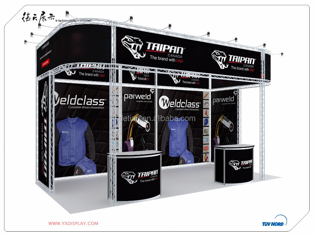 Portable Exhibition Display : Portable exhibition stand design truss exhibition display for