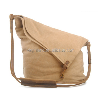 New Style Fashion Cute Foldable Khaki Canvas S Messenger Bags For School