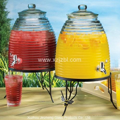 Beehive Glass Beverage Dispenser On Metal Stand Buy