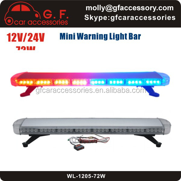 12V-24V 72W LED Police Roof Emergency Warning Mini Light Bar/Lightbar