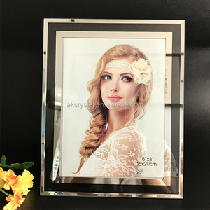 Beautiful top quality wedding favors cheap price crystal glass photo frame