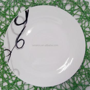 Cheap Unbreakable Porcelain Dinner Plates,White Porcelain Plate 10.5 ...