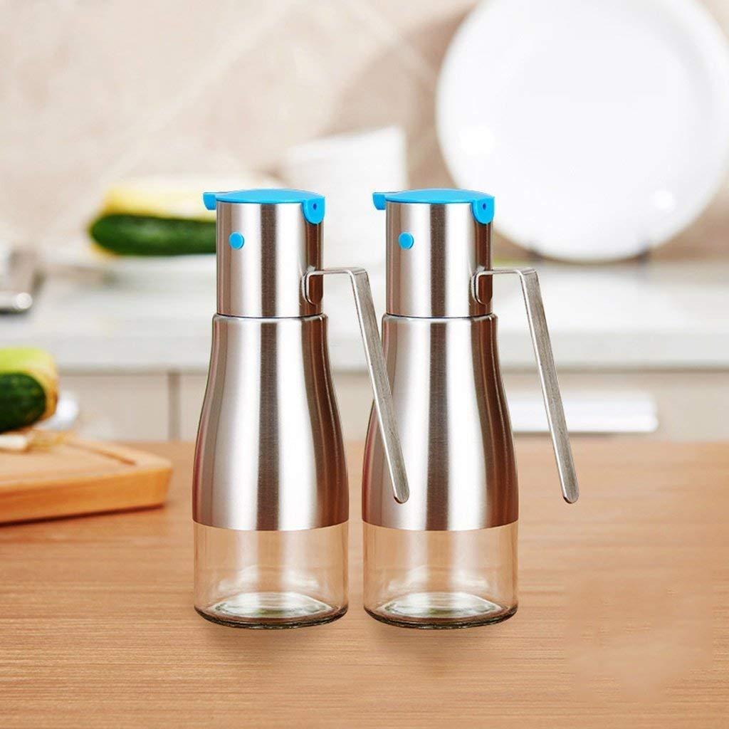 Delicieux Get Quotations · PLLP Seasoning Bottle Stainless Steel Oil Bottle Oil  Spill, Glass Soy Sauce Bottles, Oil