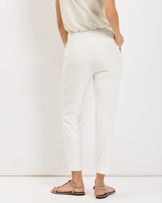 New design female wholesale cropped stretch white trousers pants for women