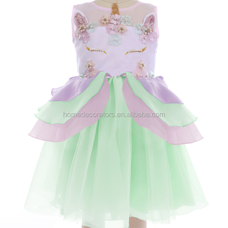 Wholesale Unicorn Dresses Girl's Tulle Dress