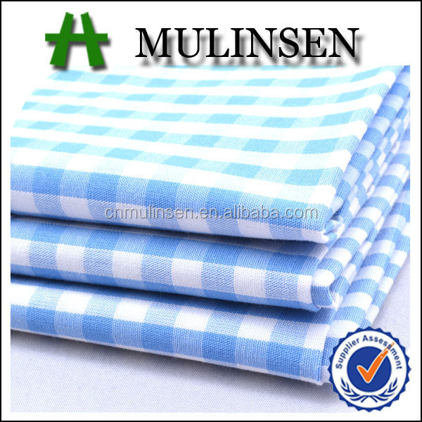 Mulinsen Textile Carded Cotton Combed Cotton 100 Yarn Dyed Check Fabric