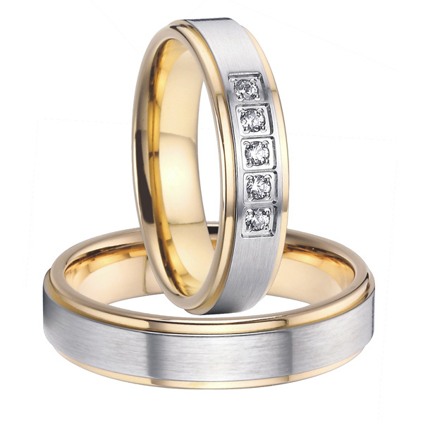 926d0a1814 Get Quotations · 2015 classic alliances 18k gold plated health titanium  wedding bands promise rings sets for couples