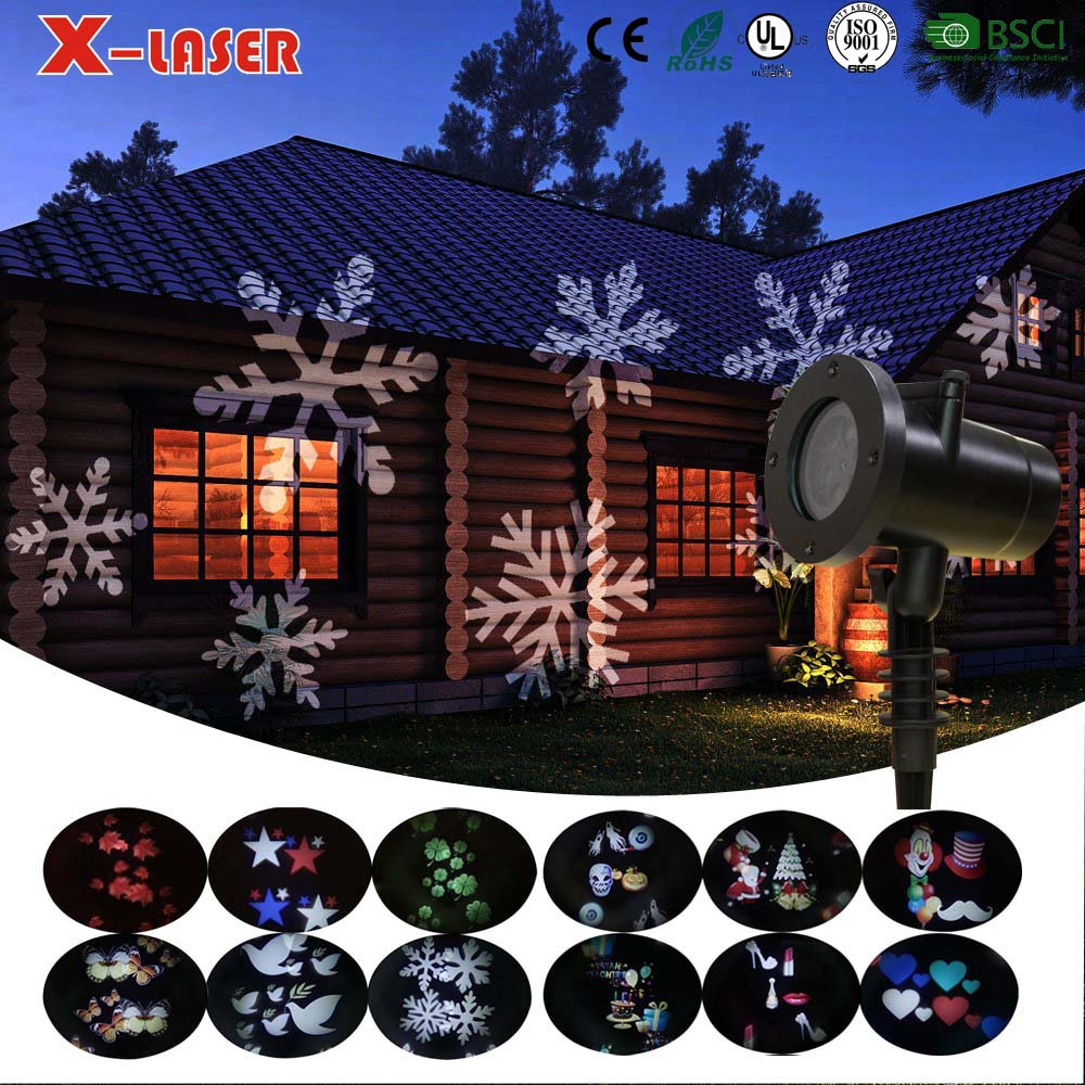 White Moving Snowflake Light Outdoor Waterproof LED Light Projector Holiday Decoration for Landscape Garden Holiday Party