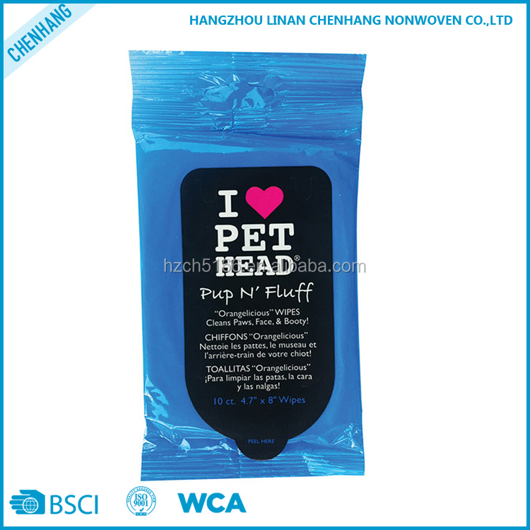 Multi-purpose Family Nonwoven Spunlace Pet Cleaning Wet Wipes