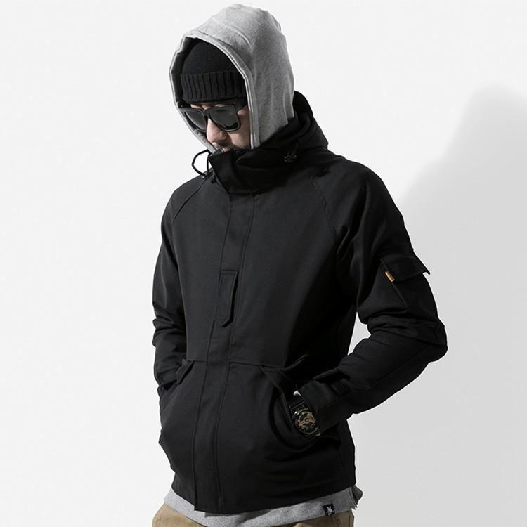 บุรุษกลางแจ้งสวมคุณภาพสูงคลุมด้วยผ้าฝ้ายแจ็คเก็ตที่กำหนดเองเสื้อกันลมแจ็คเก็ตกลางแจ้ง