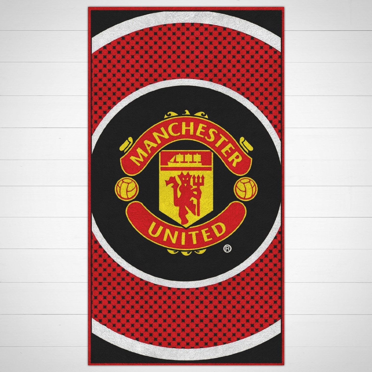 Manchester United F.C. Towel BE. large velour beach towel, approx 150cm x 75cm (59in x 29in), 100% cotton - official licensed product