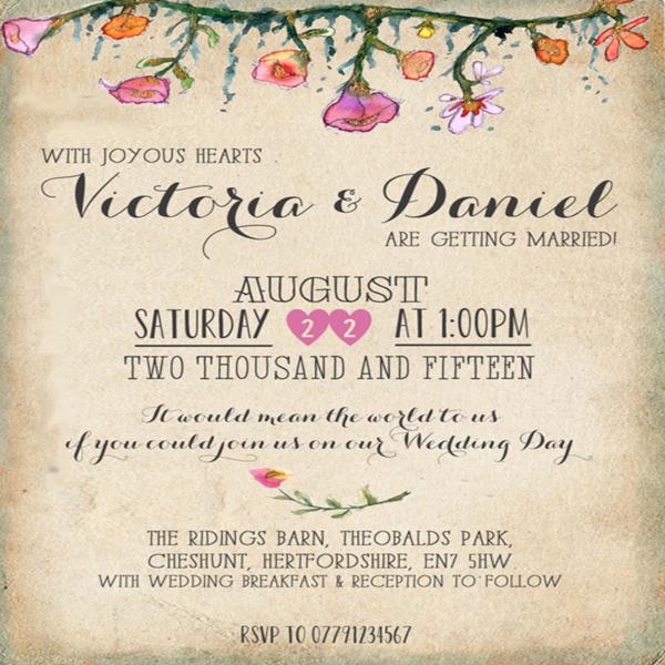 3 Personalised Vintage//rustic//shabby chic table menu card wedding//parties