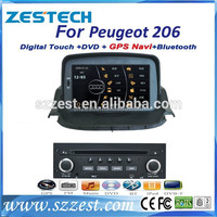 ZESTECH navigation system car dvd gps for Peugeot 206 hot sell