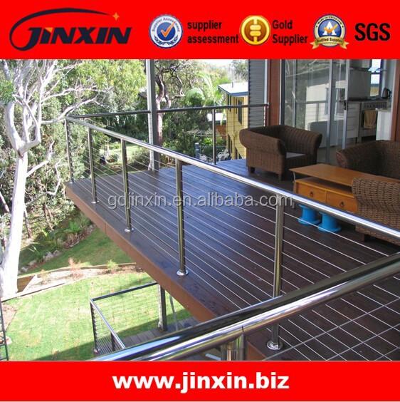 edelstahl drahtzaun treppe au en gel nder auf dem balkon br stung und gel nder produkt id. Black Bedroom Furniture Sets. Home Design Ideas