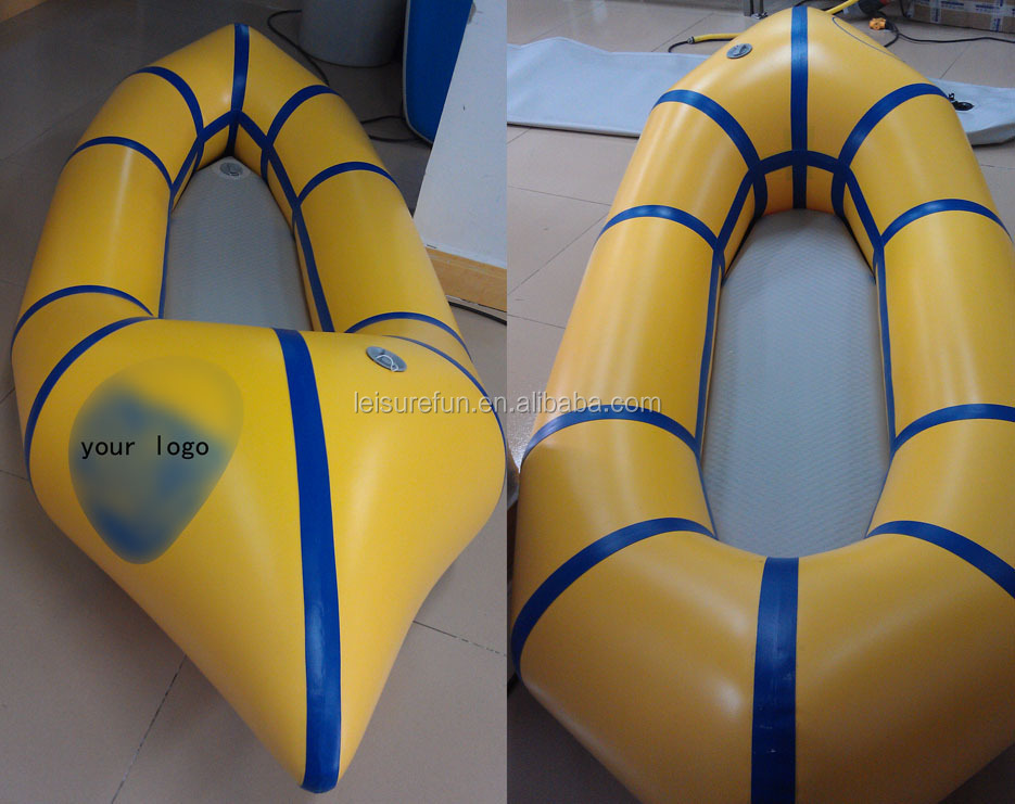 1 person inflatable Pack raft , pack rafting
