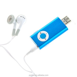 Customized logo usb clip mp3 players