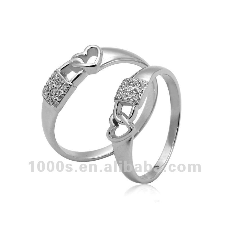 Engagement 925 Solid Silver Couple Rings - Buy 925 Silver Couple ...