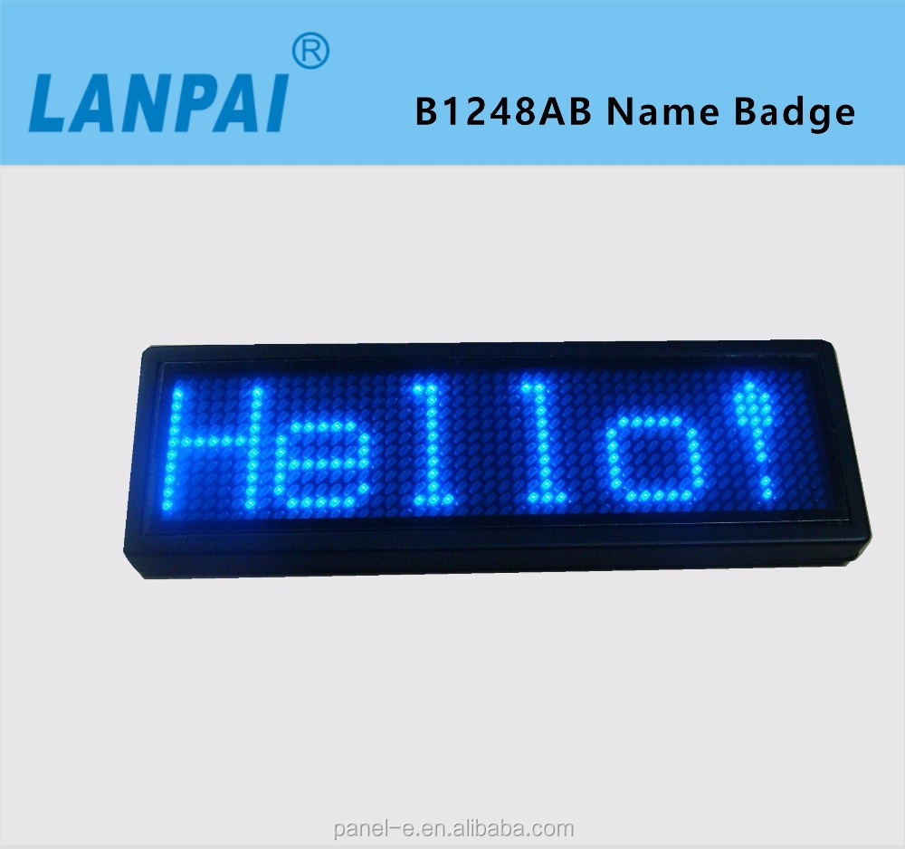 OEM factory direct wholesale price led name tag, led name badge led sign one color