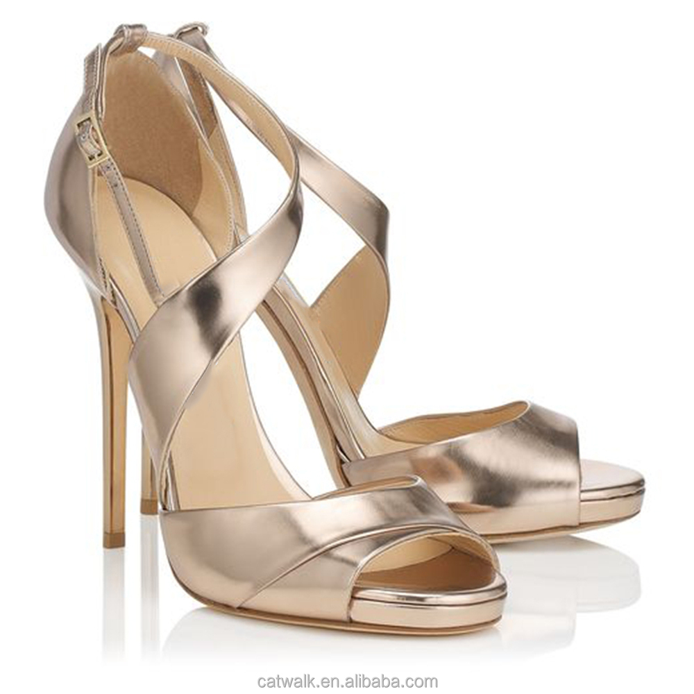 Women's sandals with bling - Lady Sexy Shoes High Heel Bling Bling Sandals Cross Strap Women Sandals Party High Heels