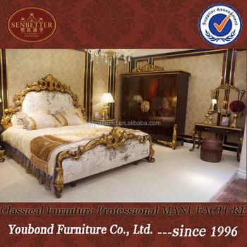 48 Italian Classic Hot Bedroom Set FurnitureHigh End Golden Interesting Hot Bedroom