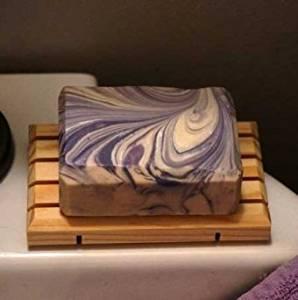 The Lavender Apple. Lavender Handmade Goat's Milk Luxury Bar Soap 3 Pack Net Wt. 12.9 oz
