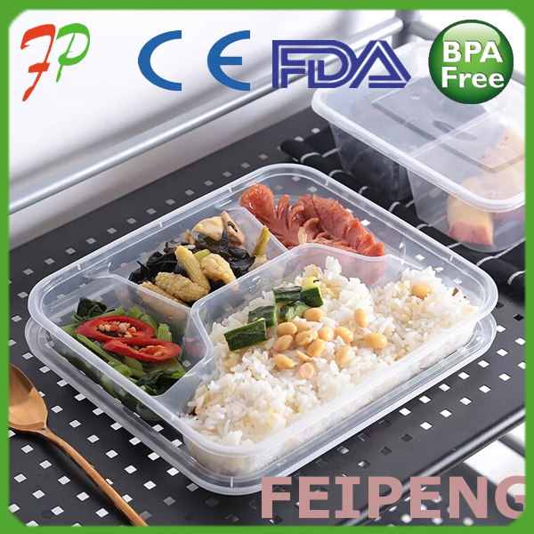 China Manufacturer Wholesale Disposable Bento Lunch Box With Dividers