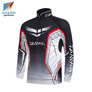 Full Sublimation Printing Customized Blank Pro Fishing Jersey