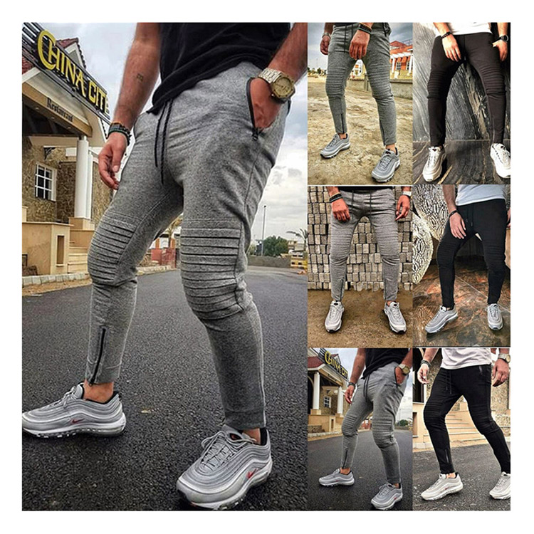 New products in stock comfortable casual pleated pants men
