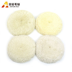 China factory wholesale cheap double sided wool buffing pad