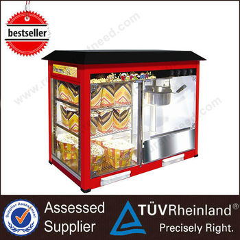 Top Quality Shine Long Vending commercial kettle popcorn machine