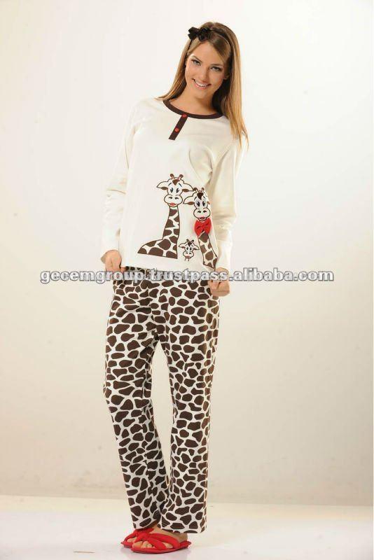 b01e715da damas pijama de algodón para las niñas--Identificación del producto ...