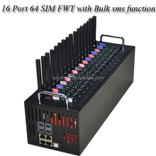 Professional 16 Ports 64 SIM Cards GSM fixed wireless FWT bulk SMS/VOICE CALL GSM FWT