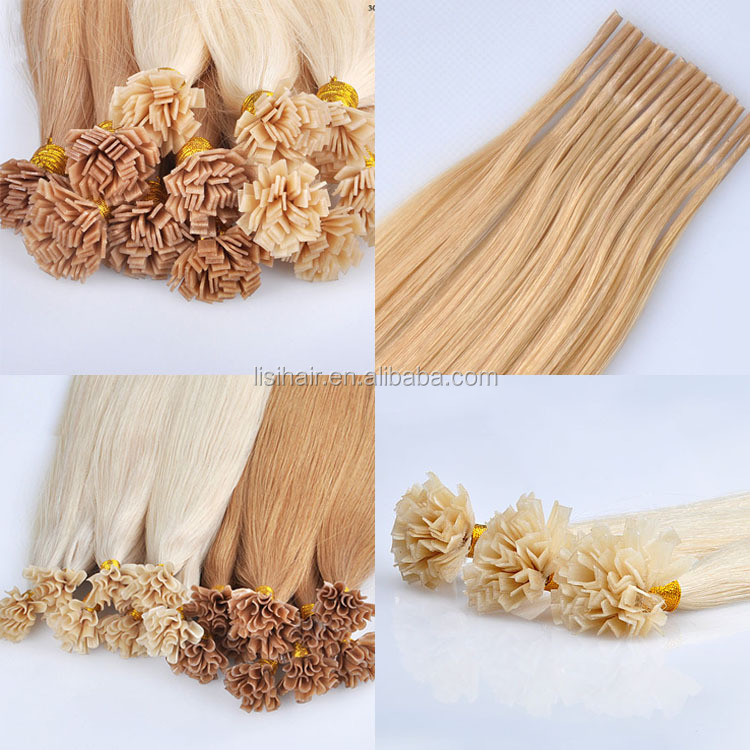 Top quality tangle free OEM/ODM hair 100 keratin tip human hair extension