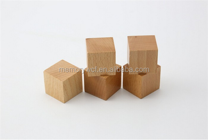 Super Fun Multifunctional Unfinished Wooden Cubes,DIY Toy Wooden Cube Blocks Ideas
