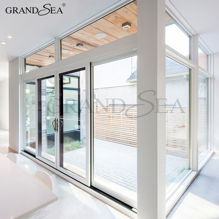 Standard size insulated roller shutter 4 panel sliding glass door low price