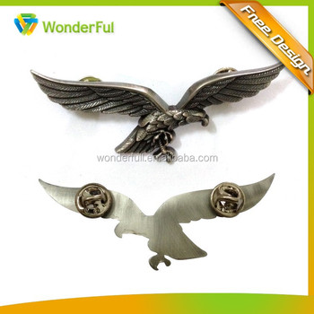 Promotional Eagle Style Safety Lapel Pin Badge With Butterfly ...