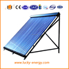 Flat plate solar water collector for room heating