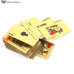 Hot Birthday Gift 100 dollar Design Poker 24K Gold Foil Plated Playing Card