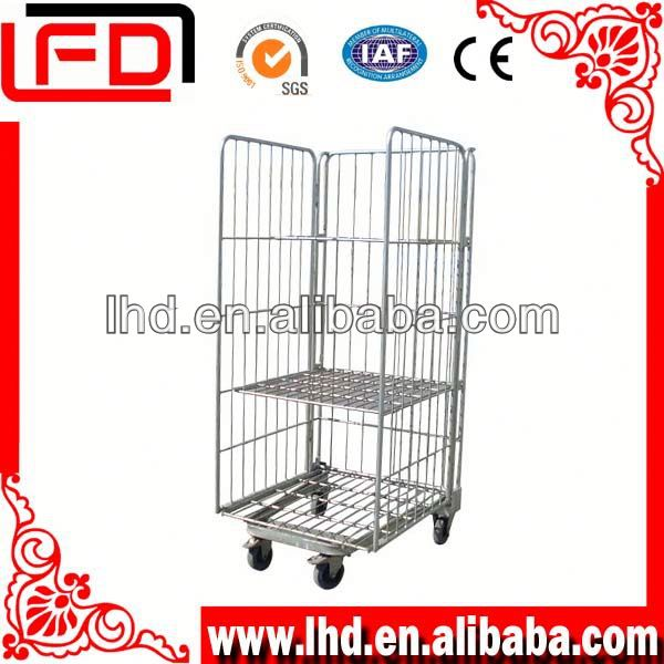 Metal foldable mesh shopping cart