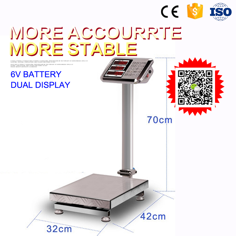 40*50cm stainless platform weighing scale 300kg keli load cell