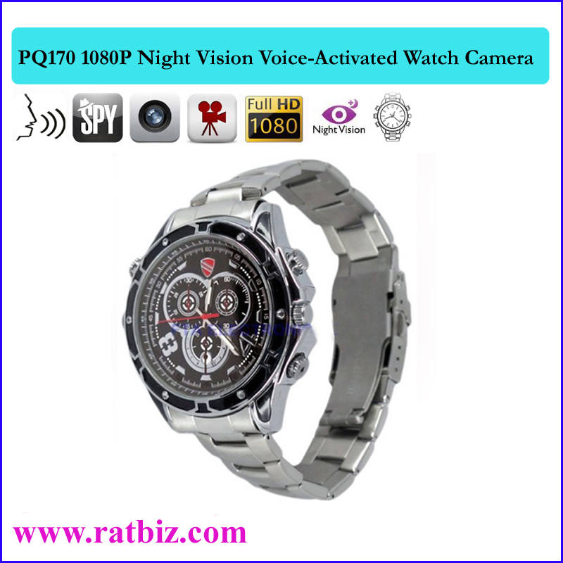 Full Hd 1920*1080 Spy Watch Camera Voice-activated Recording Video ...