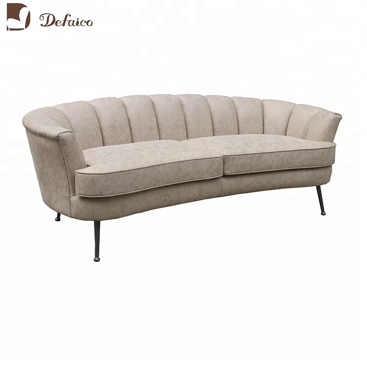 Upholstery Velvet Fabric Curved Back