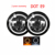 "Dot Approved E9 Daymaker Car 50W 30W Turn Amber Hi LO Halo Motor 12v 24v Round DRL H4  Angle Eye 7"" Inch Led Headlight"