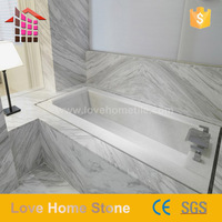 White Volakas bathroom floor tile wall marble tile