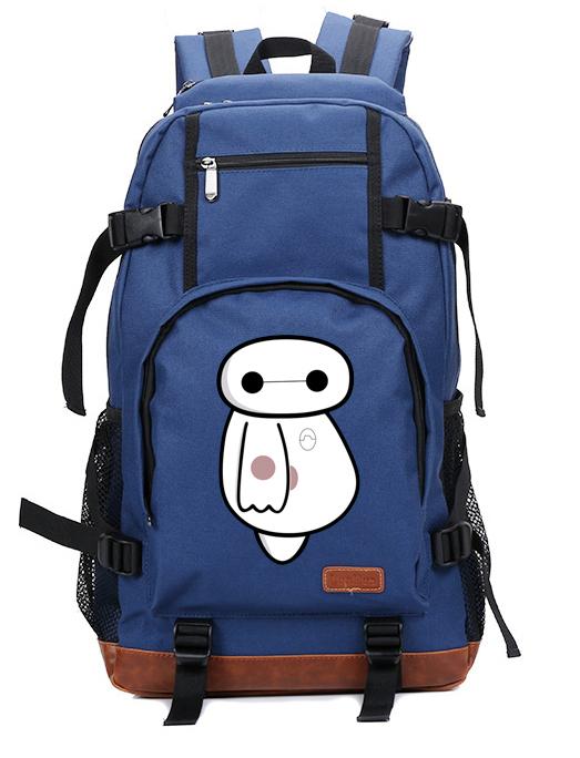 HOT Anime Big Hero 6 shoulder pack Baymax School bag Oxford + Cowhide Bag  Unisex Baymax Laptop bag Backpack.   39.99. 2015 Newest Fashion Canvas ... 28f0d47b25514